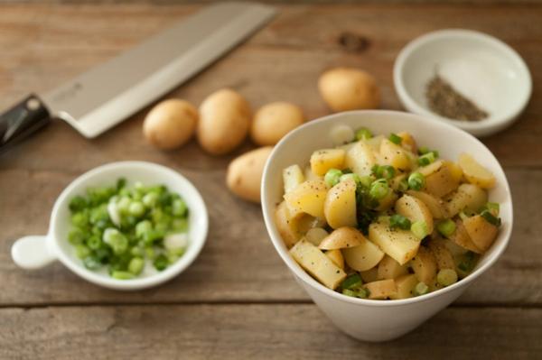 kalorienarme gerichte kartoffelsalat zwiebeln