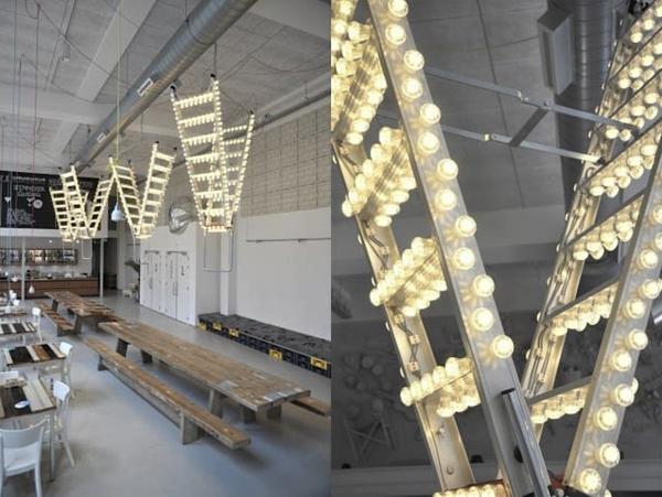 Lichterkette und leiter ausgefallene dekoration for Ausgefallene dekoration