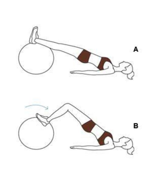 lower ab crunch gymnastikball übungen