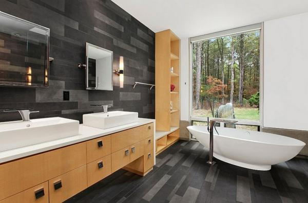 luxus badezimmer in schwarz der neue trend. Black Bedroom Furniture Sets. Home Design Ideas