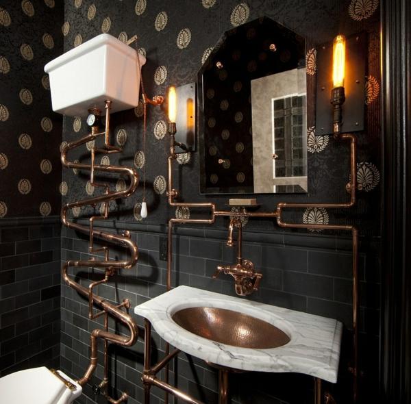 Luxus badezimmer schwarz  Badezimmer Schwarz Rot ~ Beste Ideen für moderne Innenarchitektur