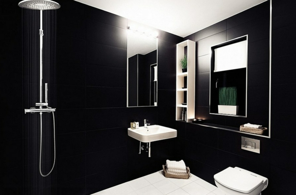 luxus badezimmer in schwarz der neue trend. Black Bedroom Furniture Sets. Home Design Ideas