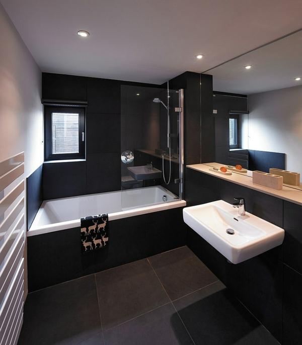 Luxus Badezimmer in Schwarz - der neue Trend
