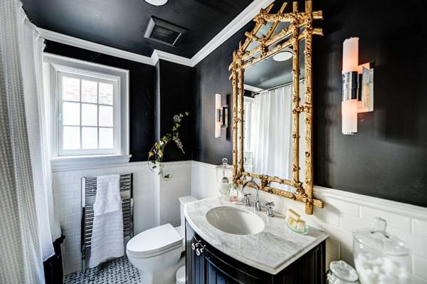 Badezimmer » Badezimmer Schwarz Weiß Gold - Tausende Bilder Von ... Badezimmer Schwarz Wei Gold