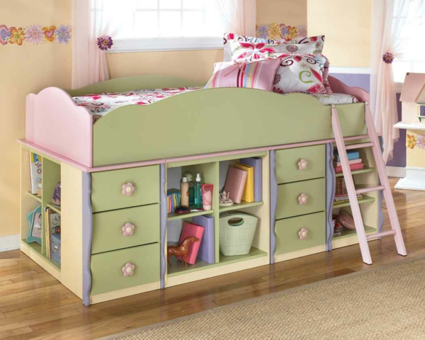 kinderbett f r m dchen sch n funktinal oder modern soll. Black Bedroom Furniture Sets. Home Design Ideas