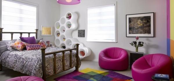 mädchen kinderzimmer krasse farben kombinieren moderne möbel auswählen
