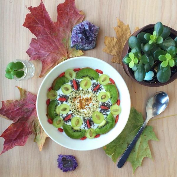 mandala vorlagen kiwi trockene früchte joghurt