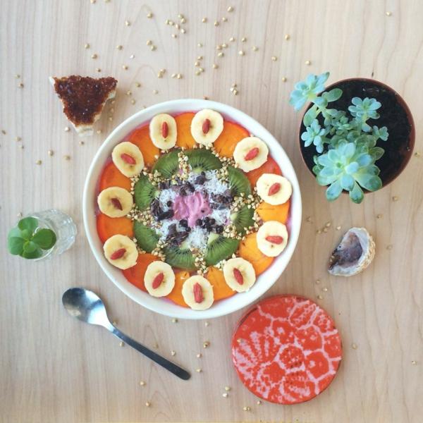 mandala vorlagen persimone kiwi joghurt