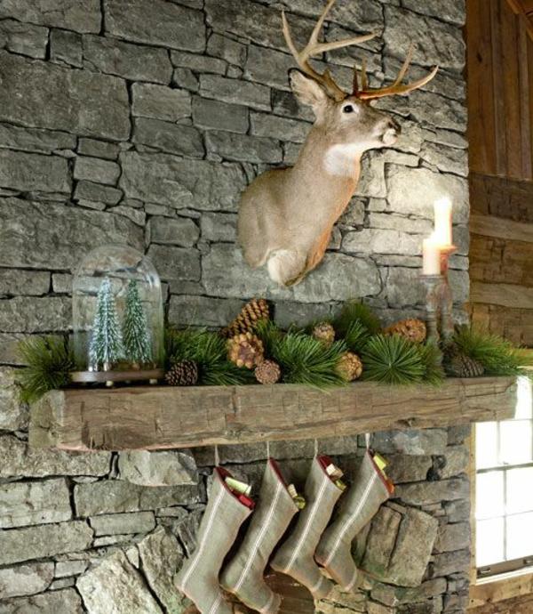 mauersteine wandgestaltung weihnachtsdekoration