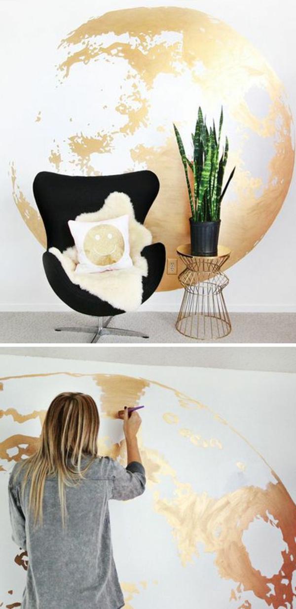 Moderne Hausfrau Zuhause Einrichtungsideen Kreative Wandgestaltung
