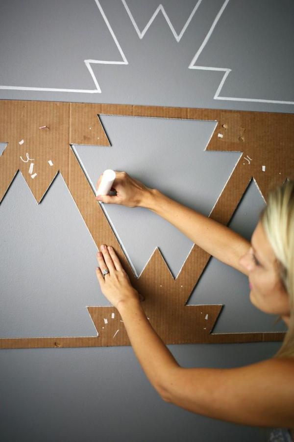 moderne hausfrau zuhause einrichtungsideen wandgestaltung ideen