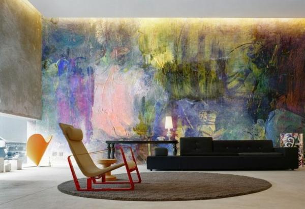 moderne kunst indirekt deckenbeleuchtung teppich