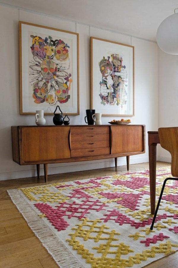 moderne kunst teppich kommode sideboard