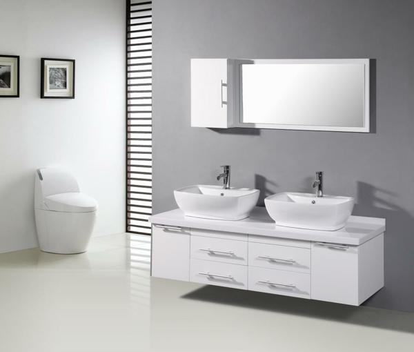 moderne waschbecken weißer unterschrank bilder badezimmer