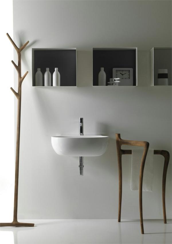 modernes badezimmer futuristisch weißes waschbecken