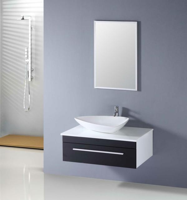 modernes waschbecken dusche waschbeckenunzerschrank hellblaue wand