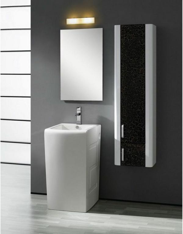 modernes waschbecken weiß graue wand