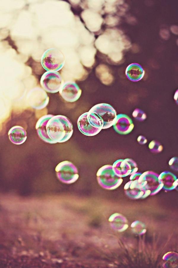 momente des glücks alltag seifenblasen