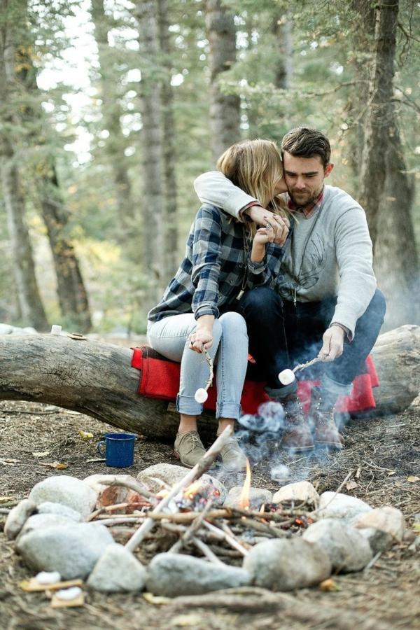momente des glücks alltag wald picknick