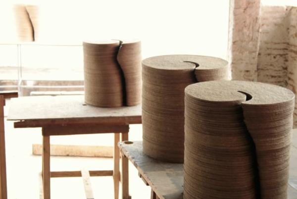 umweltfreundliches design aus papier möbelsteile pappe