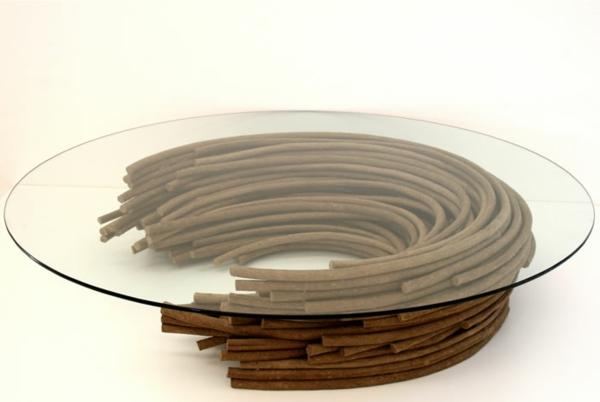 umweltfreundliches design aus papier wohnzimmertische