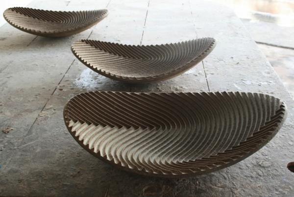 umweltfreundliches design domingos totora papier schalen
