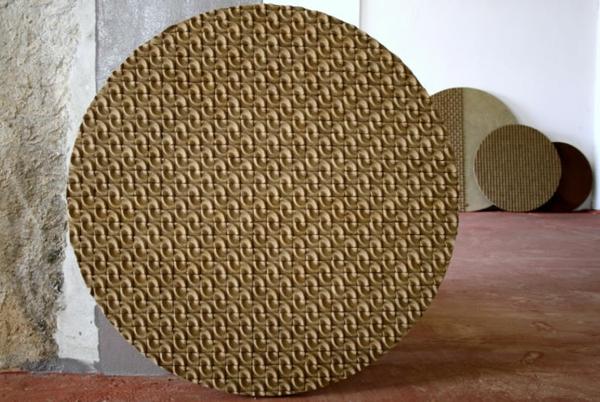 umweltfreundliches design domingos totora papier tischplatte