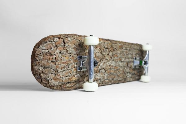 nachhaltiges design naturholz skateboarding naturholz