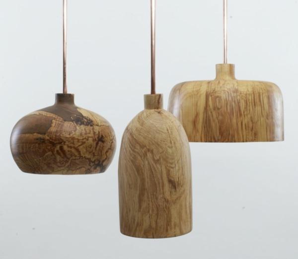 pendelleuchte designs tolle holztextur lampen zuhause