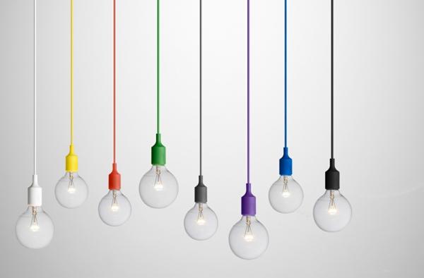 pendelleuchten schlicht minimalistisch design farbig