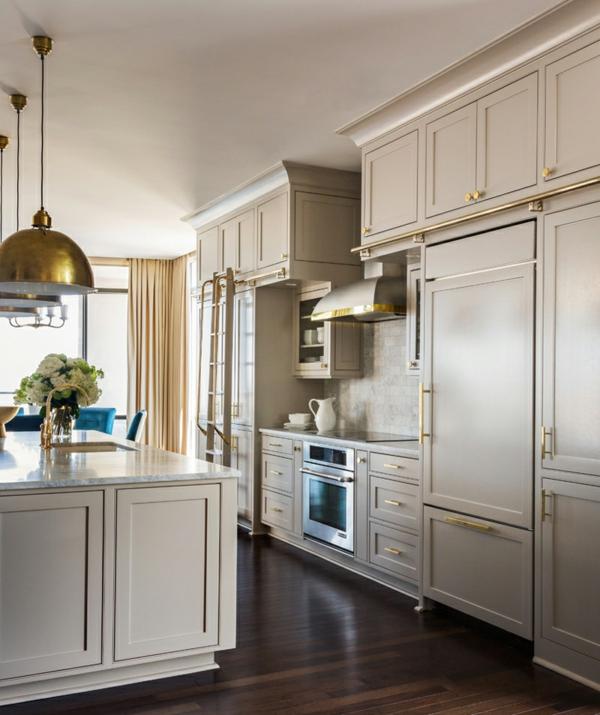 modernes penthaus wohnung modern blau hell küchenschränke