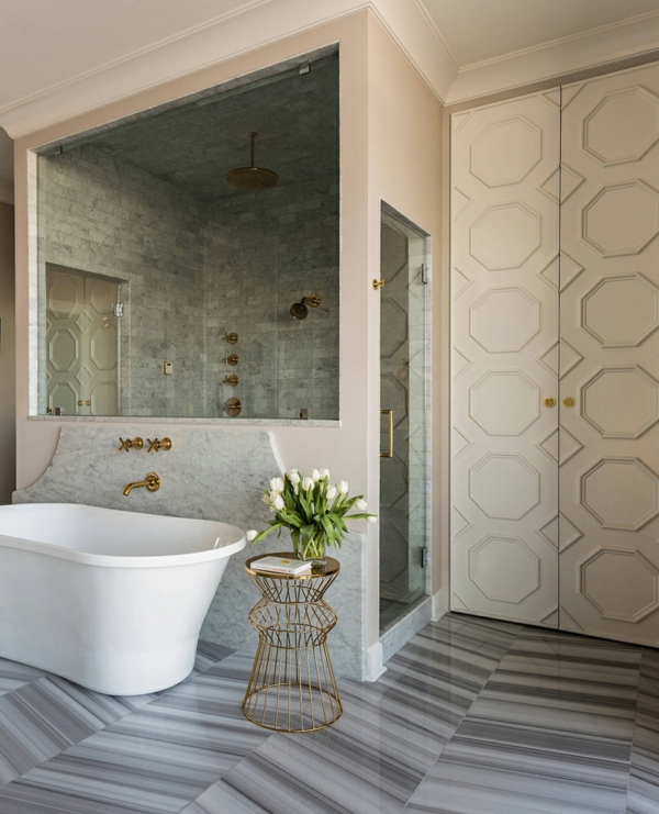 penthaus wohnung modern blau hell penthousewohnung badewanne