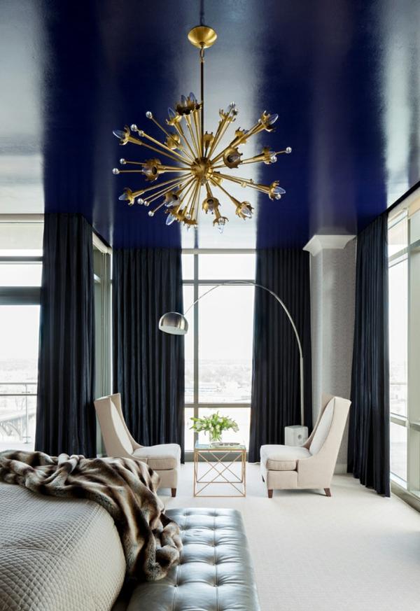penthaus wohnung modern blau hell penthousewohnung kronleuchter