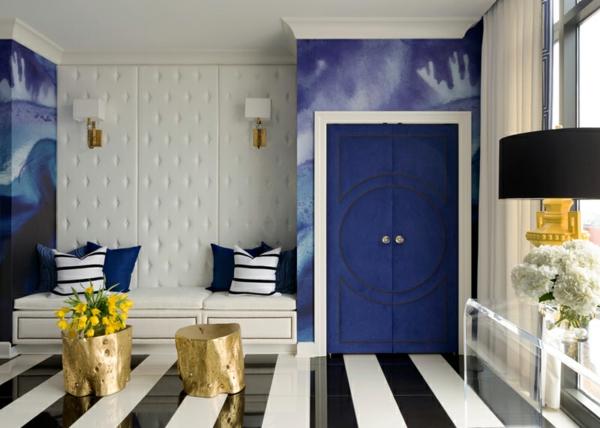 penthaus wohnung modern blau hell penthousewohnung streifen