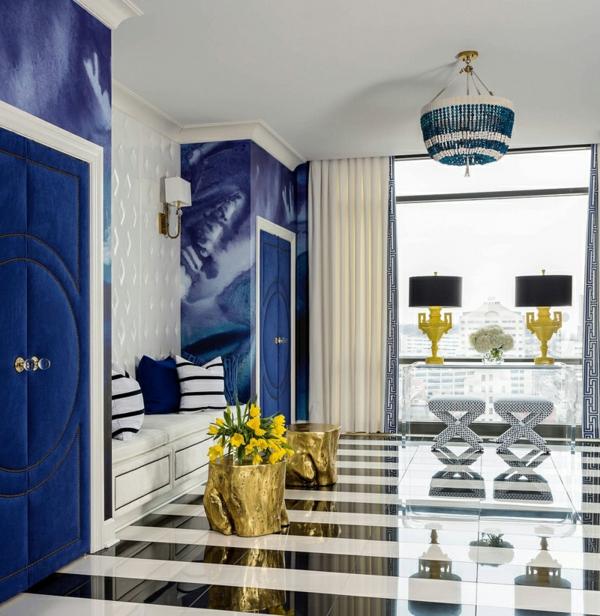 penthaus wohnung modern blau hell