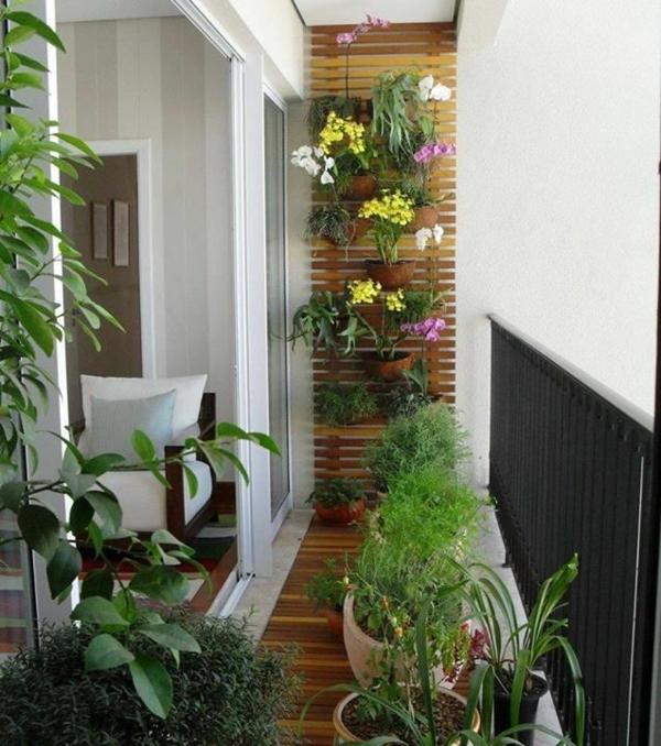 pflegeleichte Balkonpflanzen geländer wanddeko