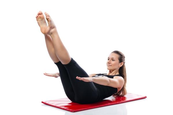 pilates Kalorien verbrauch gymnastikball übungen sport