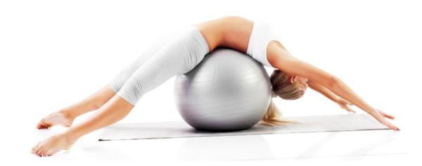 pilates Kalorien verbrauch beim Sport gymnastikball übungen