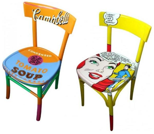 Pop Art Merkmale im Innendesign - Einrichtungsideen im 60er Jahre Stil