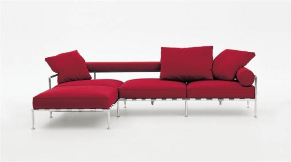 rotes sofa Möbel italienischer Stil Antonio Citterio
