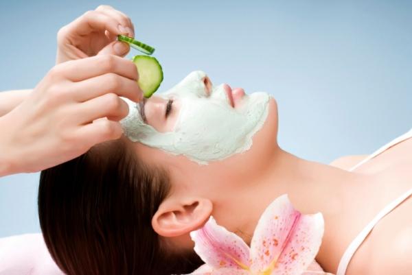 schöne haut tipps naturprodukte maske mit gurke