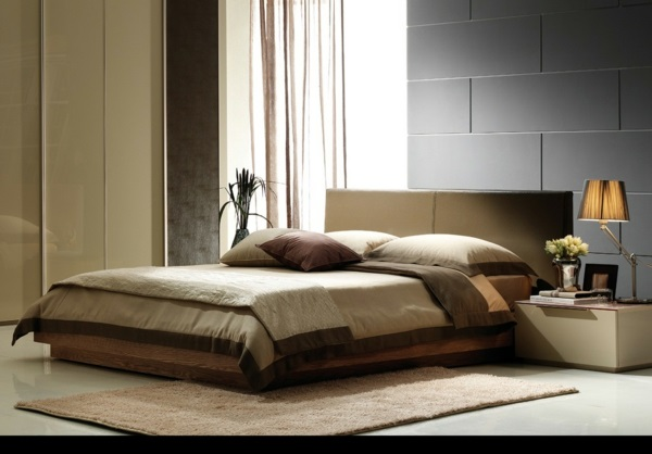 schlafzimmer komplett günstig modern gestalten braun
