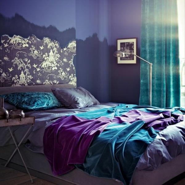 komplett günstig schlafzimmer gestalten lila