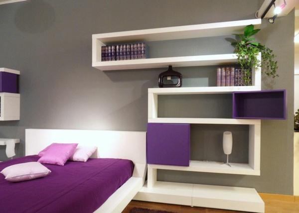 komplett offene wandregale günstig modern schlafzimmer
