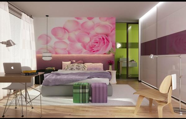 komplett günstig schlafzimmer gestalten rosen