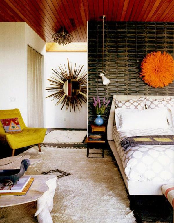 komplett günstig modern schlafzimmer gestalten wandspiegel