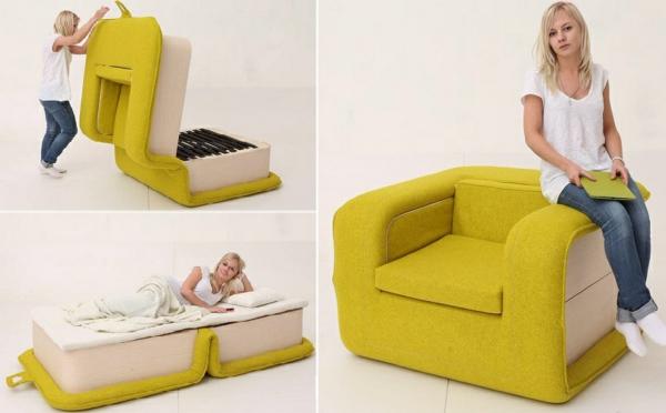 Sessel Mit Schlaffunktion Multifunktional Und Platzsparend