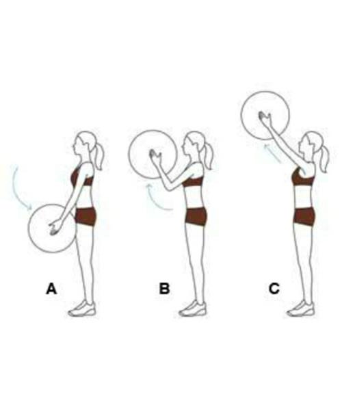 shoulder-curl gymnastikball übungen