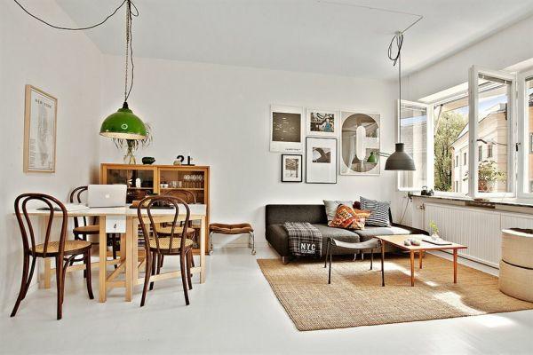 Single Wohnung Einrichten Apartment Einzimmerwohnung Stühle Tisch