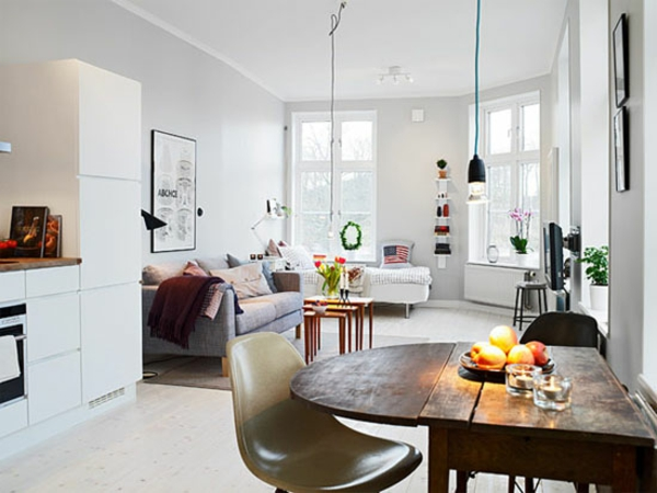 single wohnung einrichten apartment essecke